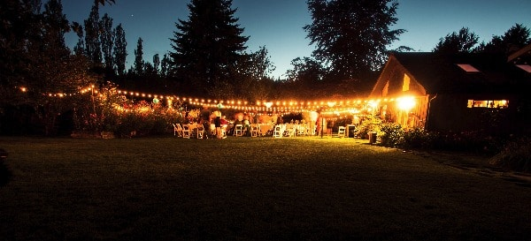 Outdoor String Wedding Lights