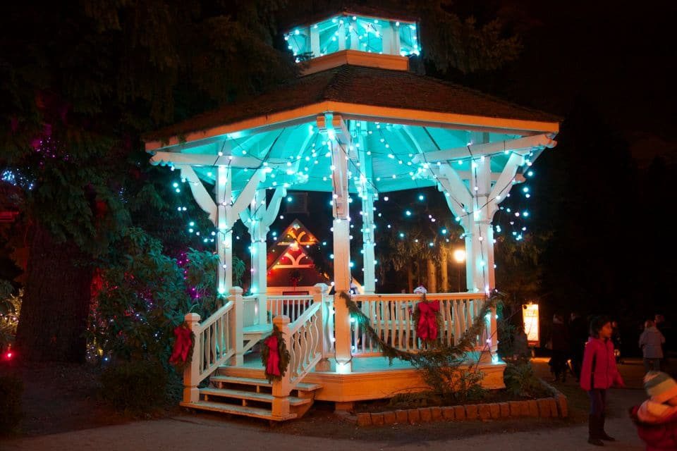 Commercial lighting installation on Gazebo