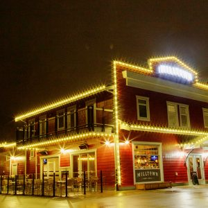 Blog - Christmas Lights – You Do Have Another Option Commercial Christmas Installation - Warm White Building Outline