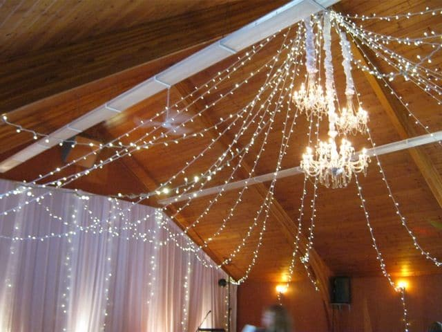 Wedding Lights - Warm White Berry Lights in Ceiling