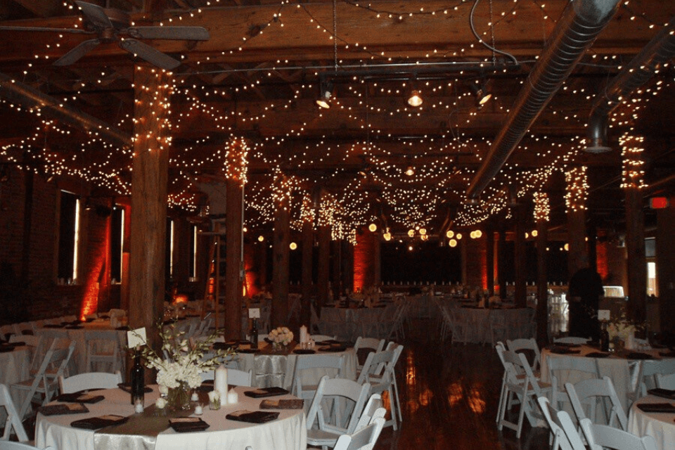 Special Event Lighting - Warm White Mini Lights in Ceiling
