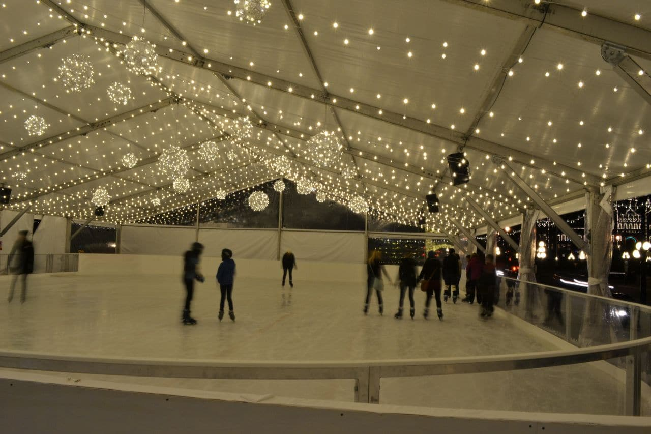Commercial lighting installation on Ice Rink