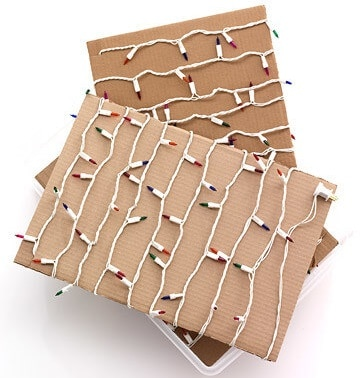 Christmas lights storage - wrap around cardboard