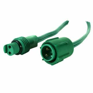 Coaxial plug ends