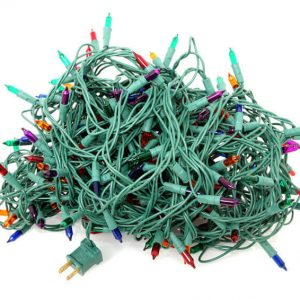 Example of tangled Christmas lights