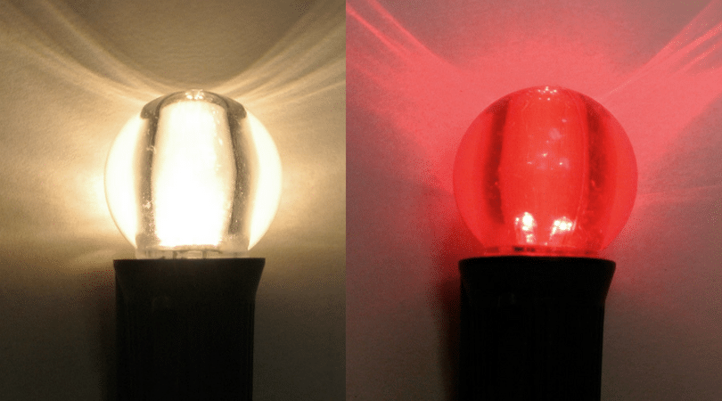 Warm White and Red G30 - super bright globe lights