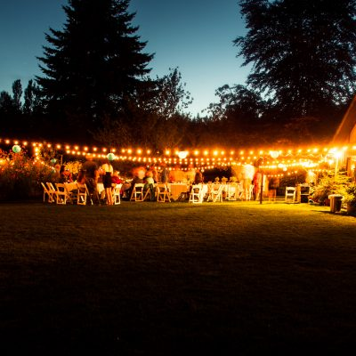 FestiLight - Special Event lightings - Commercial Install - Warm White. -Outdoor Wedding Reception