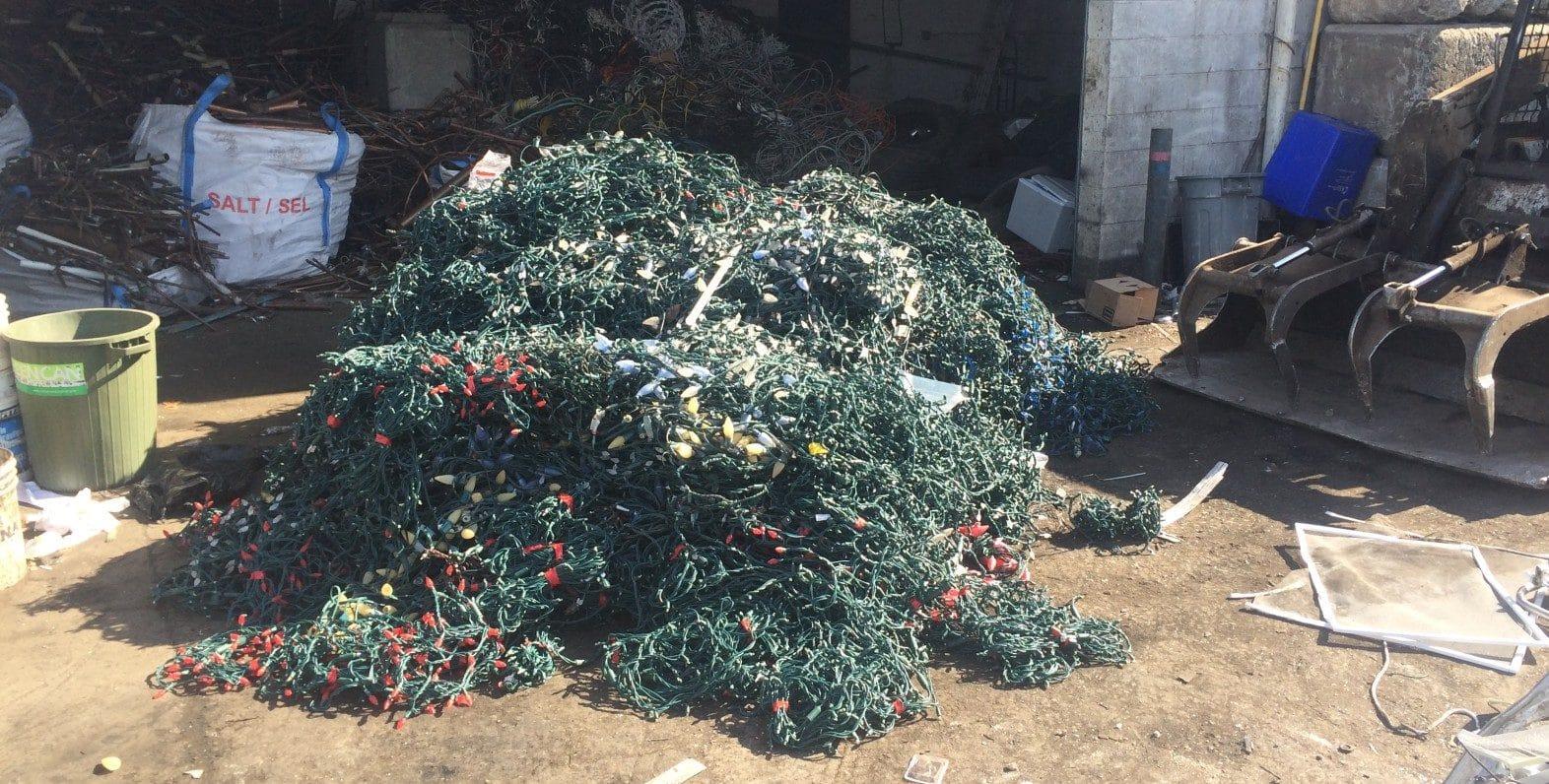 Recycled Christmas Lighting - 2500lb