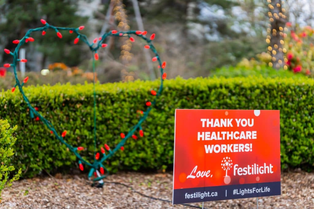 Solidarity Heart for Healthcare Workers at Burnaby General Hospital